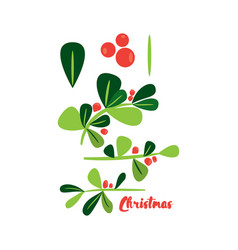 holly berry christmas simbol design elements vector image