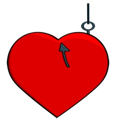 Hooked heart vector image