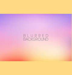Horizontal wide pink blurred background vector
