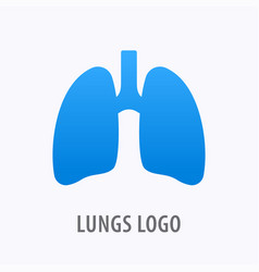 human lungs icon logo design template vector image