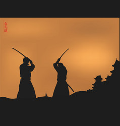 images of men with a sword vector image