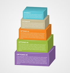 Infographic design with rectangles vector