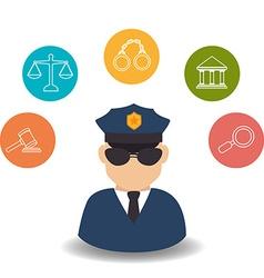 Law design vector image vector image