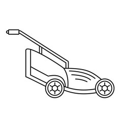 Lawn mower icon outline style vector