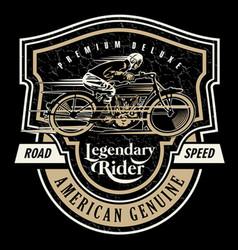 legendary rider vector image