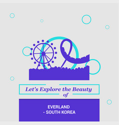 lets explore the beauty of everland south korea vector image
