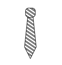 line elegant tie to use in special day vector image