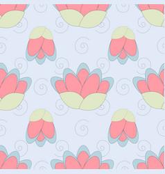 lotus pattern in gentle colors vector image