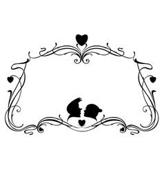 Love frame vector