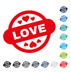 love stamp seal icon vector image
