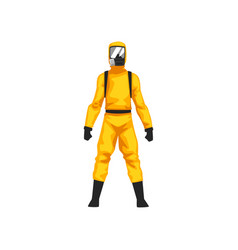 Man in protective suit and gas mask chemical or vector
