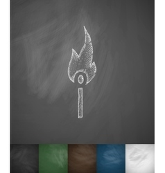Match icon Hand drawn vector