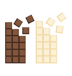 Milk chocolate bar flat vector