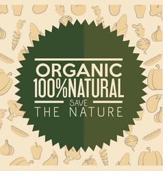 Organic label design vector