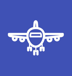 Plane on runway vector