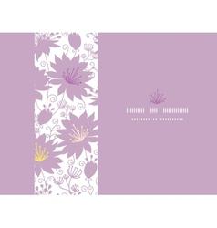 Purple shadow florals horizontal seamless pattern vector image