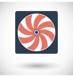 Radiator fan flat icon vector image