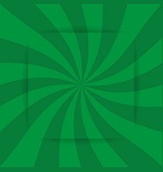 retro green ray background in vintage style and vector image