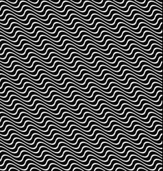 Seamless angular wavy pattern background design vector image