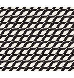 Seamless Black and White Interlacing Wavy vector