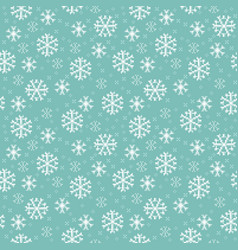 Seamless pattern with snowflakes pixel-art vector
