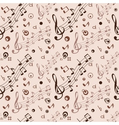 Seamless with some musical notes vector image