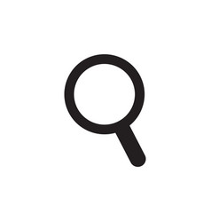 Search icon magnifying glass symbol vector