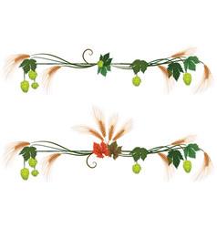 Set floral dividers vector
