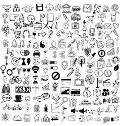 Set sketch icons for site or mobile application vector