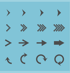 set with different arrows icon vector image