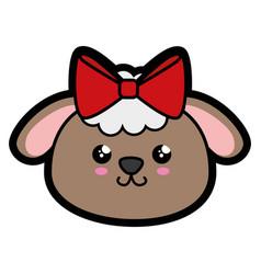 Sheep kawaii cartoon vector