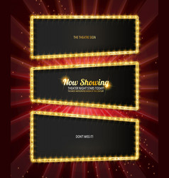 showtime retro signs set vector image