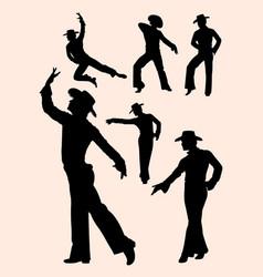 spanish dancers silhouette vector image