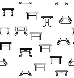 table desk seamless pattern vector image