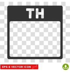 Thursday Calendar Page Eps Icon vector
