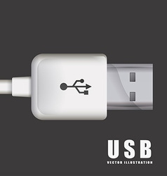 usb connection vector image