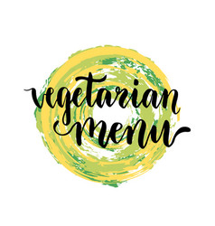 Vegetarian menu background creative cover vector