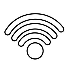 wifi internet signal on white background vector image