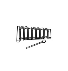 xylophone toy hand drawn outline doodle icon vector image