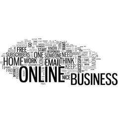 basic online business techniques text word cloud vector image