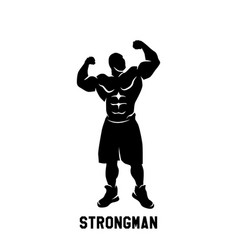 fitness emblems logo design vector image vector image