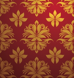 gold and red pattern vector image vector image