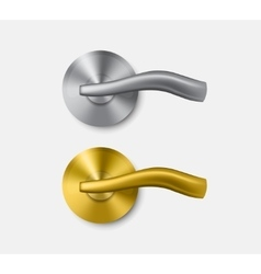 Metal and gold door handle vector image