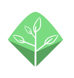 minimalist natural world logo vector image