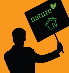 nature eco house color vector image