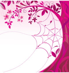pink tree with a flowers vector image vector image
