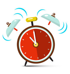 ringing alarm clock icon vector image