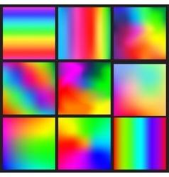 Set of rainbow mesh backgrounds vector image vector image