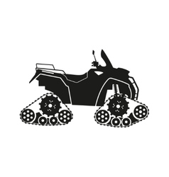 Black silhouette of the all-terrain vehicle vector image vector image