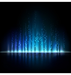 Blue aurora light Abstract backgrounds vector image